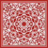 Red scarf with geometric design Royalty Free Stock Image