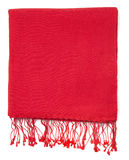 Red scarf or pashmina Stock Image