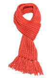 Red scarf. Red textile scarf isolated on white background Royalty Free Stock Photo
