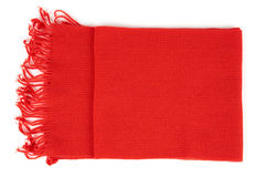 Red scarf on white Royalty Free Stock Photo
