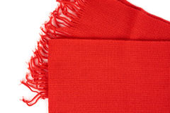 Red scarf on white Stock Photo