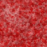 Red scattered triangles background Stock Photo