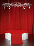 Red scene and red curtains Royalty Free Stock Photos