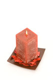 Red Scented Candle Stock Photos