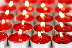 Red scented candles Royalty Free Stock Images