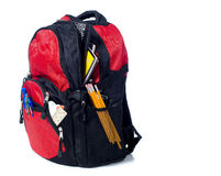 Red School Back Pack Stock Image