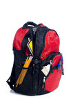 Red School Back Pack Royalty Free Stock Photography