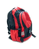 Red school backpack Royalty Free Stock Photos