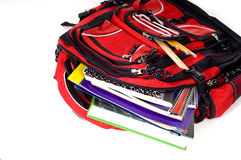 Red School Backpack Royalty Free Stock Photography