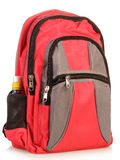 Red school backpack Stock Images