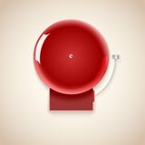 Red school bell. Stock Images
