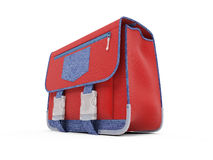 Red school rucksack Royalty Free Stock Photography