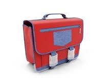 Red school rucksack Stock Photo