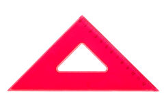 Red school triangle Royalty Free Stock Images