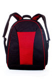 Red schoolbag. Large red schoolbag, close-up, isolated on white Stock Photography