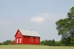 Red schoolhouse Royalty Free Stock Image