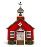 Red Schoolhouse Facade Stock Image