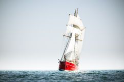 Red schooner Stock Photography