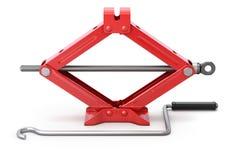 Red scissor jack Stock Images