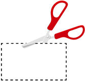 Red scissors cut out coupon on dotted line Stock Image