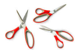 Red scissors. Isolated on white background Royalty Free Stock Photography