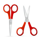 Red Scissors Set. Vector Stock Photos