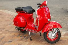 Red Scooter Stock Photo