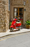 Red Scooter Stock Image