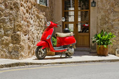 Red Scooter Stock Photos