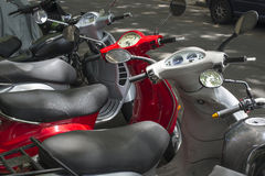 Red Scooter detail Stock Photos