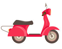 Red scooter icon Royalty Free Stock Photography