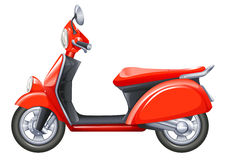 A red scooter. Illustration of a red scooter on a white background Stock Images