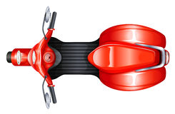 A red scooter. Illustration of a red scooter on a white background Stock Photos
