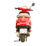 Red scooter isolated on background Stock Photos