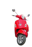 Red scooter isolated on white Royalty Free Stock Photo
