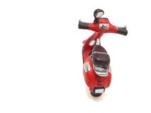 Red Scooter isolated on white. Royalty Free Stock Photography
