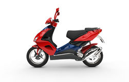 Red Scooter Stock Photography
