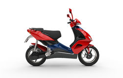 Red Scooter Side Stock Images