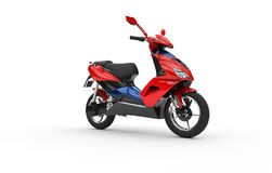 Red Scooter - Side View Royalty Free Stock Image