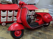 Red scooter royalty free stock photos