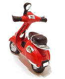 Red scooter toy isolated on white. Royalty Free Stock Image