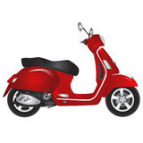 Red scooter vector Stock Photo