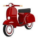 Red scooter. Vector isolated object on white background. Vector illustration. Painted in shape royalty free illustration