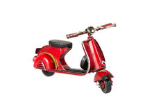 Red scooter. On the white background Stock Image
