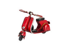 Red scooter. On the white background royalty free stock photos
