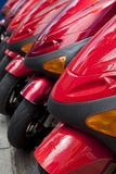 Red Scooters Royalty Free Stock Photo