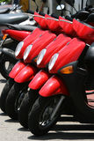 Red Scooters stock photos