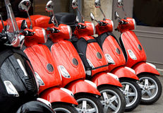 Red scooters Royalty Free Stock Photography