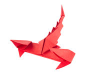 Red scorpion of origami Stock Photos