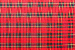 Red scott pattern fabric texture Royalty Free Stock Image